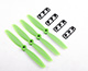 "Click for the details of GEMFAN 4045 / 4 x 4.5"" Fiberglass Nylon CR/ Counter Rotating Propellers - Green  (4pcs) ."