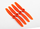 "Click for the details of GEMFAN 4045 / 4 x 4.5"" Fiberglass Nylon CR/ Counter Rotating Propellers - Orange  (4pcs) ."