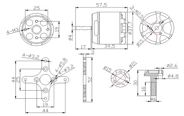 Sunnysky X3120 800kv Outrunner Brushless Motor Sunnysky