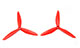 Click for the details of 6 x 4.0 / 6040 3-blade Crash Resistant Propeller Set (one CW, one CCW) - Red.