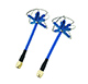 Click for the details of AOMWAY 3.3G Circular Polarized Antenna Pair - SMA, plug, Blue.