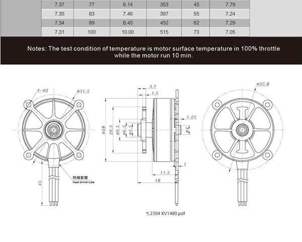 sunnysky r2304 1480kv f3p motor sunnysky sunnysky r2304 1480kv f3p motor picture is shared other type of same series refer to spec section for specification details