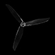 Click for the details of DALPROP T7056C Tri-blade Propeller Set (2CW/ 2CCW) - Transparent.